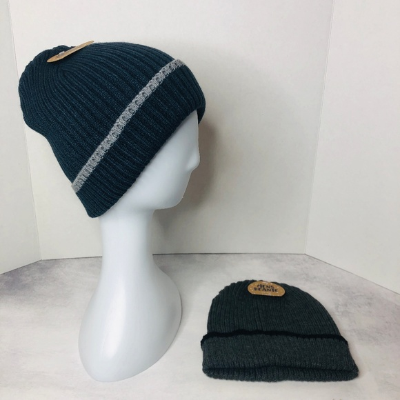 Gortex Other - Set of Two Men's Winter Hats Gray & Blue
